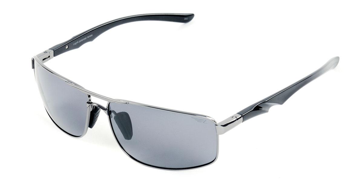 Очки поляризационные мужские Legna, цвет: стальной, серый. S4404AS4404AСолнцезащитные очки Legna с поляризационными линзами превосходно предохраняют глаза от любого рода вредных бликов и УФ-лучей, что делает вождение безопасным и комфортным. Также очки Legna ничем не уступают самым известным маркам и брендам в эстетической части. Благодаря линзам премиум класса очки Legna прекрасно подходят для повседневной носки, занятий спортом, отдыха и конечно для использования за рулем.