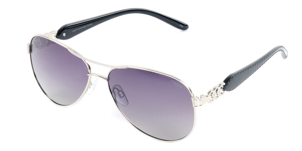 Очки женские поляризационные Legna, цвет: черный. S4406AS4406AСтильные солнцезащитные очки Legna S4501A сделают приятной прогулку в жаркий солнечный полдень. Их также по достоинству оценят водители, так как эта модель очков оснащена уникальными поляризационными линзами, которые задерживают раздражающие блики, что гарантирует полный зрительный комфорт и, как результат, повышенную безопасность. Высокоэффективный встроенный УФ фильтр обеспечивает совершенную защиту от вредных ультрафиолетовых лучей Кроме того, это эффектный аксессуар, который наверняка станет «изюминкой» вашего индивидуального стиля. Оправа не только красивая, но и прочная, а линзы со временем не покроются мелкими царапинами. Чистка и обслуживание: Вымыть теплой водой, вытереть мягкой сухой салфеткой. Условия хранения: в футляре при нормальных климатических условиях. Предупреждение: Не использовать в солярии, не смотреть на прямые солнечные лучи, не использовать при управлении автомобилем в сумерках и ночью.