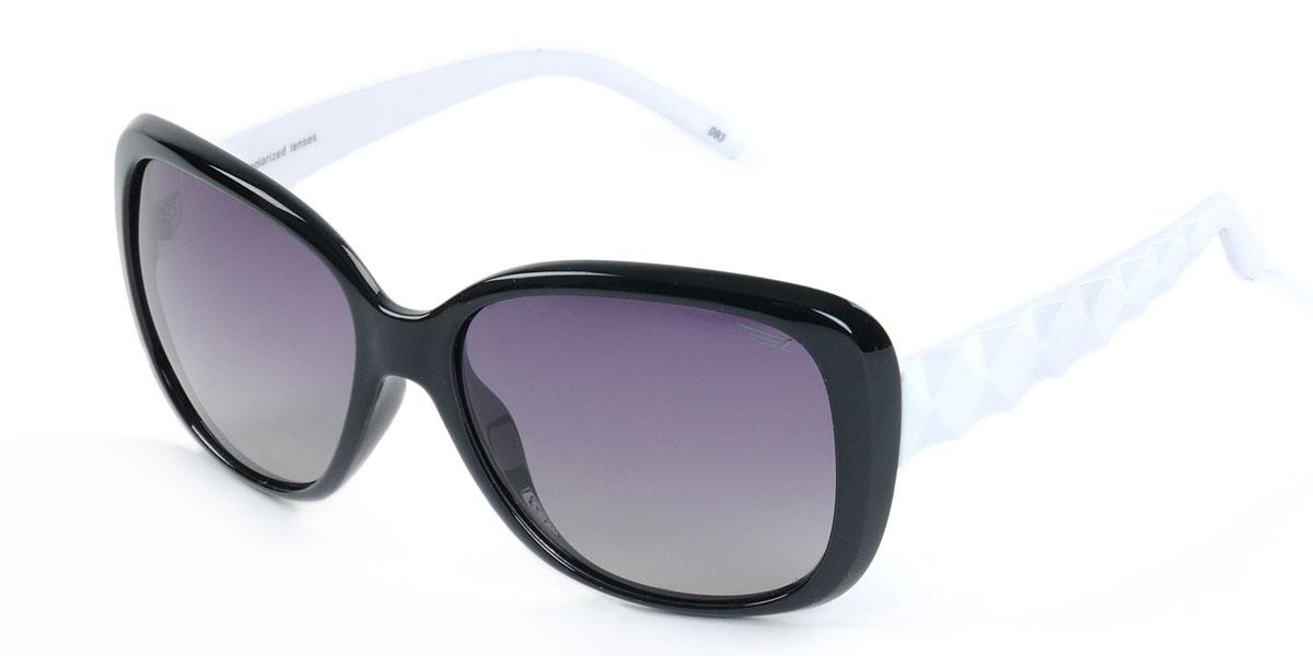 Очки женские поляризационные Legna, цвет: черный, белый. S8403AS8403AСтильные солнцезащитные очки Legna сделают приятной прогулку в жаркий солнечный полдень. Их также по достоинству оценят водители, так как эта модель очков оснащена уникальными поляризационными линзами, которые задерживают раздражающие блики, что гарантирует полный зрительный комфорт и, как результат, повышенную безопасность. Высокоэффективный встроенный УФ фильтр обеспечивает совершенную защиту от вредных ультрафиолетовых лучей Кроме того, это эффектный аксессуар, который наверняка станет «изюминкой» вашего индивидуального стиля. Оправа не только красивая, но и прочная, а линзы со временем не покроются мелкими царапинами. Чистка и обслуживание: Вымыть теплой водой, вытереть мягкой сухой салфеткой. Условия хранения: в футляре при нормальных климатических условиях. Предупреждение: Не использовать в солярии, не смотреть на прямые солнечные лучи, не использовать при управлении автомобилем в сумерках и ночью.
