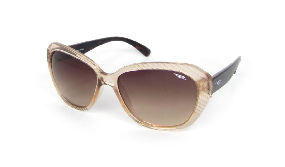 Очки женские поляризационные Legna, цвет: бежевый, коричневый. S8502BS8502BСтильные солнцезащитные очки Legna сделают приятной прогулку в жаркий солнечный полдень. Их также по достоинству оценят водители, так как эта модель очков оснащена уникальными поляризационными линзами, которые задерживают раздражающие блики, что гарантирует полный зрительный комфорт и, как результат, повышенную безопасность. Высокоэффективный встроенный УФ фильтр обеспечивает совершенную защиту от вредных ультрафиолетовых лучей Кроме того, это эффектный аксессуар, который наверняка станет «изюминкой» вашего индивидуального стиля. Оправа не только красивая, но и прочная, а линзы со временем не покроются мелкими царапинами. Чистка и обслуживание: Вымыть теплой водой, вытереть мягкой сухой салфеткой. Условия хранения: в футляре при нормальных климатических условиях. Предупреждение: Не использовать в солярии, не смотреть на прямые солнечные лучи, не использовать при управлении автомобилем в сумерках и ночью.