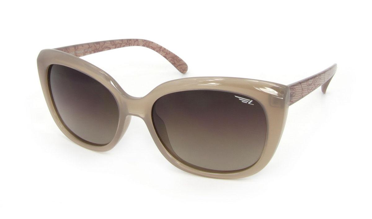 Очки женские поляризационные Legna, цвет: темно-бежевый, коричневый. S8503BS8503BСтильные солнцезащитные очки Legna сделают приятной прогулку в жаркий солнечный полдень. Их также по достоинству оценят водители, так как эта модель очков оснащена уникальными поляризационными линзами, которые задерживают раздражающие блики, что гарантирует полный зрительный комфорт и, как результат, повышенную безопасность. Высокоэффективный встроенный УФ фильтр обеспечивает совершенную защиту от вредных ультрафиолетовых лучей Кроме того, это эффектный аксессуар, который наверняка станет «изюминкой» вашего индивидуального стиля. Оправа не только красивая, но и прочная, а линзы со временем не покроются мелкими царапинами. Чистка и обслуживание: Вымыть теплой водой, вытереть мягкой сухой салфеткой. Условия хранения: в футляре при нормальных климатических условиях. Предупреждение: Не использовать в солярии, не смотреть на прямые солнечные лучи, не использовать при управлении автомобилем в сумерках и ночью.