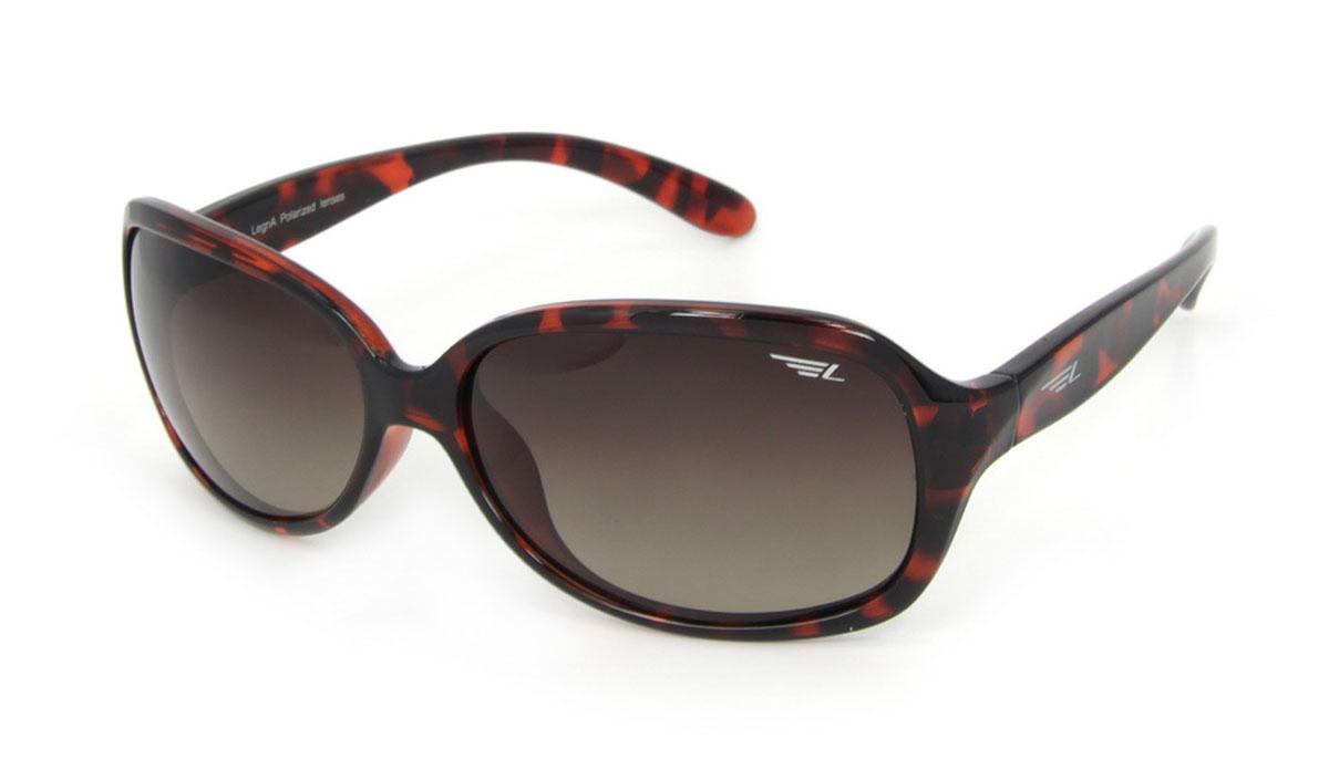 Очки женские поляризационные Legna, цвет: коричневый. S8504BS8504BСтильные солнцезащитные очки Legna сделают приятной прогулку в жаркий солнечный полдень. Их также по достоинству оценят водители, так как эта модель очков оснащена уникальными поляризационными линзами, которые задерживают раздражающие блики, что гарантирует полный зрительный комфорт и, как результат, повышенную безопасность. Высокоэффективный встроенный УФ фильтр обеспечивает совершенную защиту от вредных ультрафиолетовых лучей Кроме того, это эффектный аксессуар, который наверняка станет «изюминкой» вашего индивидуального стиля. Оправа не только красивая, но и прочная, а линзы со временем не покроются мелкими царапинами. Чистка и обслуживание: Вымыть теплой водой, вытереть мягкой сухой салфеткой. Условия хранения: в футляре при нормальных климатических условиях. Предупреждение: Не использовать в солярии, не смотреть на прямые солнечные лучи, не использовать при управлении автомобилем в сумерках и ночью.