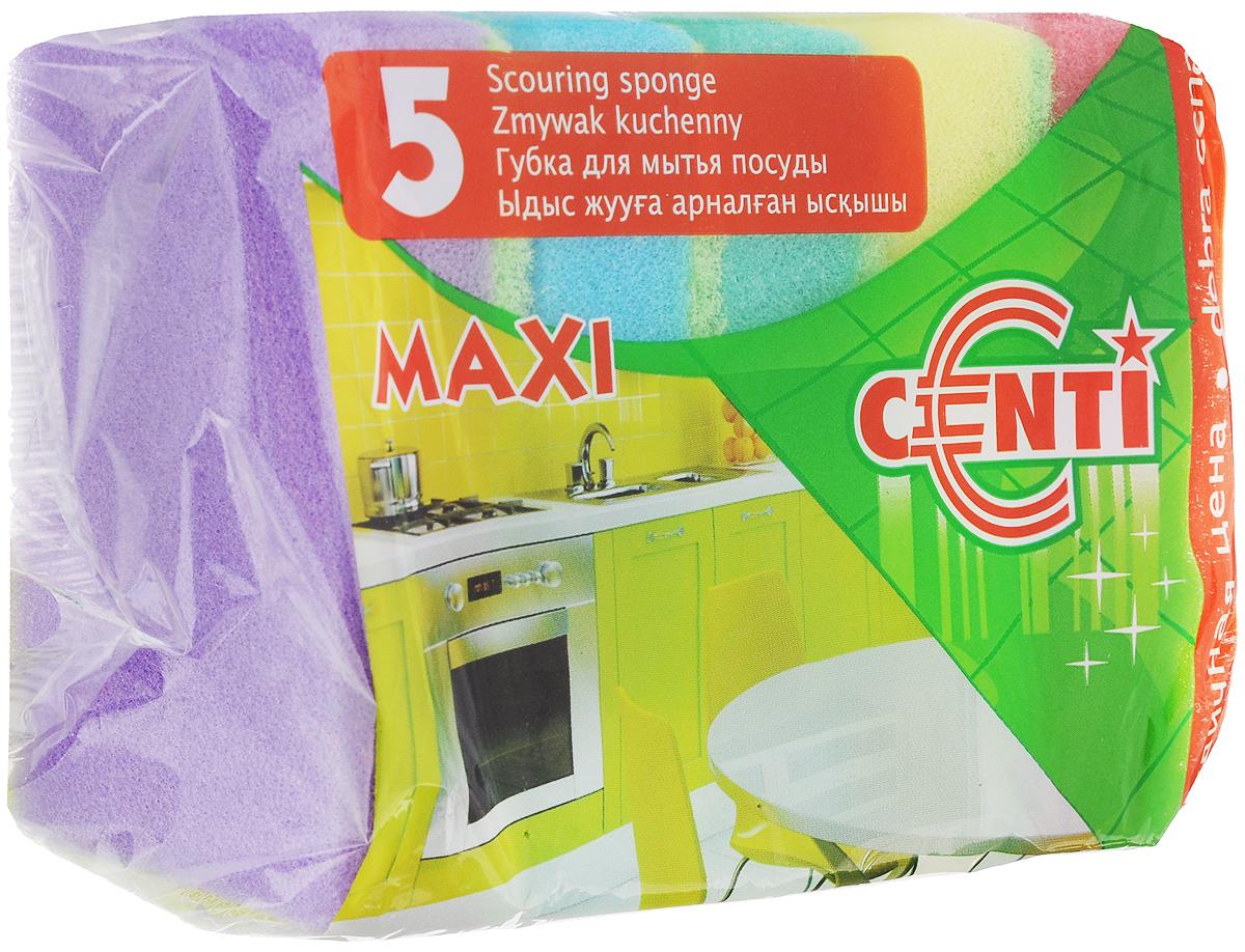 Губка для мытья посуды Centi Maxi, 5 шт30170Губка Centi Maxi выполнена из особо прочного поролона и фибры с абразивом. Предназначена для мытья посуды, столовых приборов, кухонной утвари, а также подходит для чистки поверхности плит, раковин, ванн и кафеля. Удобна в применении благодаря большому размеру. В комплекте 5 губок разного цвета. Размер губки: 9,5 х 6,5 х 2,5 см.