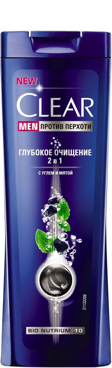 Clear Men Шампунь-бальзам против перхоти Глубокое очищение 400 мл051750752Созданный специально для мужчин Шампунь Глубокое очищение 2 в 1 с активированным углем и мятой глубоко очищает кожу головы и дает ощущение чистоты и свежести. Комплекс Nutrium 10, входящий в состав шампуня — это насыщенная смесь 10 питательных веществ и растительных активных компонентов. При регулярном применении он активирует естественный защитный слой против перхоти кожи головы, позволяя вам гарантированно защищаться от перхоти.