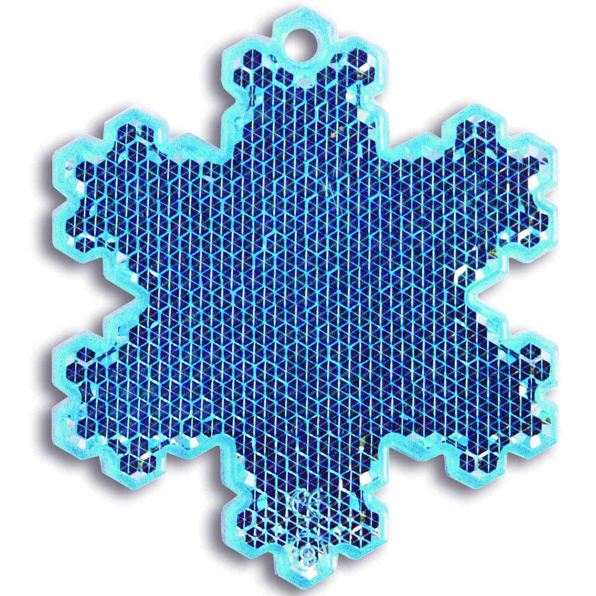 Мамасвет Светоотражатель пешеходный Снежинка цвет голубой