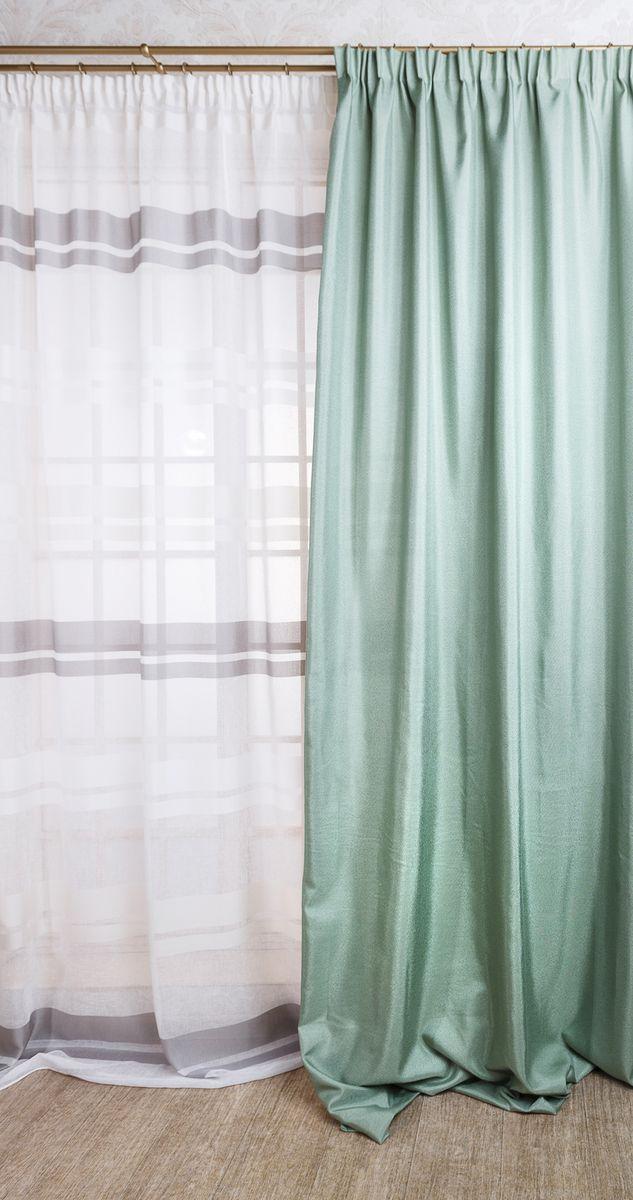 Штора Daily by Togas Арта, на ленте, с подхватом, цвет: бирюзовый, 180 х 270 см50.19.74.0453Штора АРТА из коллекции Daily. Состав: 100% полиэстер. Детали: шторы с эффектом полотняного переплетения под рогожку, классический крой, подклад, европейская подгибка 5 см, европейская шторная лента, подхват. Цвет: бирюзовый. Комплектация: 1 полотно, 1 подхват. Размеры: 180 х 270 см. Уход: необходимо стирать при температуре 40 °С с использованием моющих средств для деликатных тканей. Сушить на специальной сушке или развесив на окне. Шторы из полиэстера гладить не обязательно, но если такое желание возникнет, следует выбрать деликатный режим работы утюга (не более 150°С) и воспользоваться подутюжильником. АРТА - это свежий бирюзовый оттенок в сочетании с простым минималистическим дизайном и фактурой, имитирующей грубый холст; такая штора визуально расширит пространство и прекрасно впишется в любой современный интерьер. Она совершенно универсальна. Одиночная штора - прекрасное решение для высокого узкого окна, дверного проема или балконной двери, использованная в паре, она...