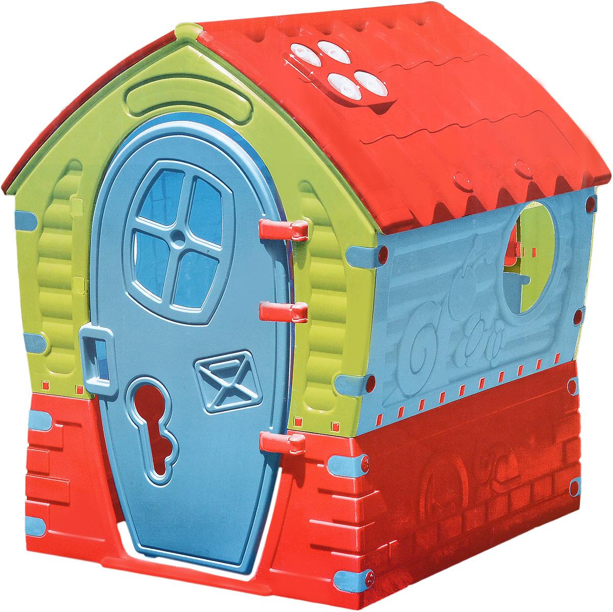 PalPlay Игровой домик Лилипут680Домик PalPlay Лилипут, выполненный в сказочном дизайне, обязательно понравится малышам. В нем можно придумывать свои сказки, развивать фантазию. Домик принесет бесконечные часы радости и веселья. Домик имеет 3 окна разной формы, распашную дверцу, крыша выполнена под черепицу. Домик собирается без использования специального инструмента. Для детей от 2-х лет и весом до 25 кг.