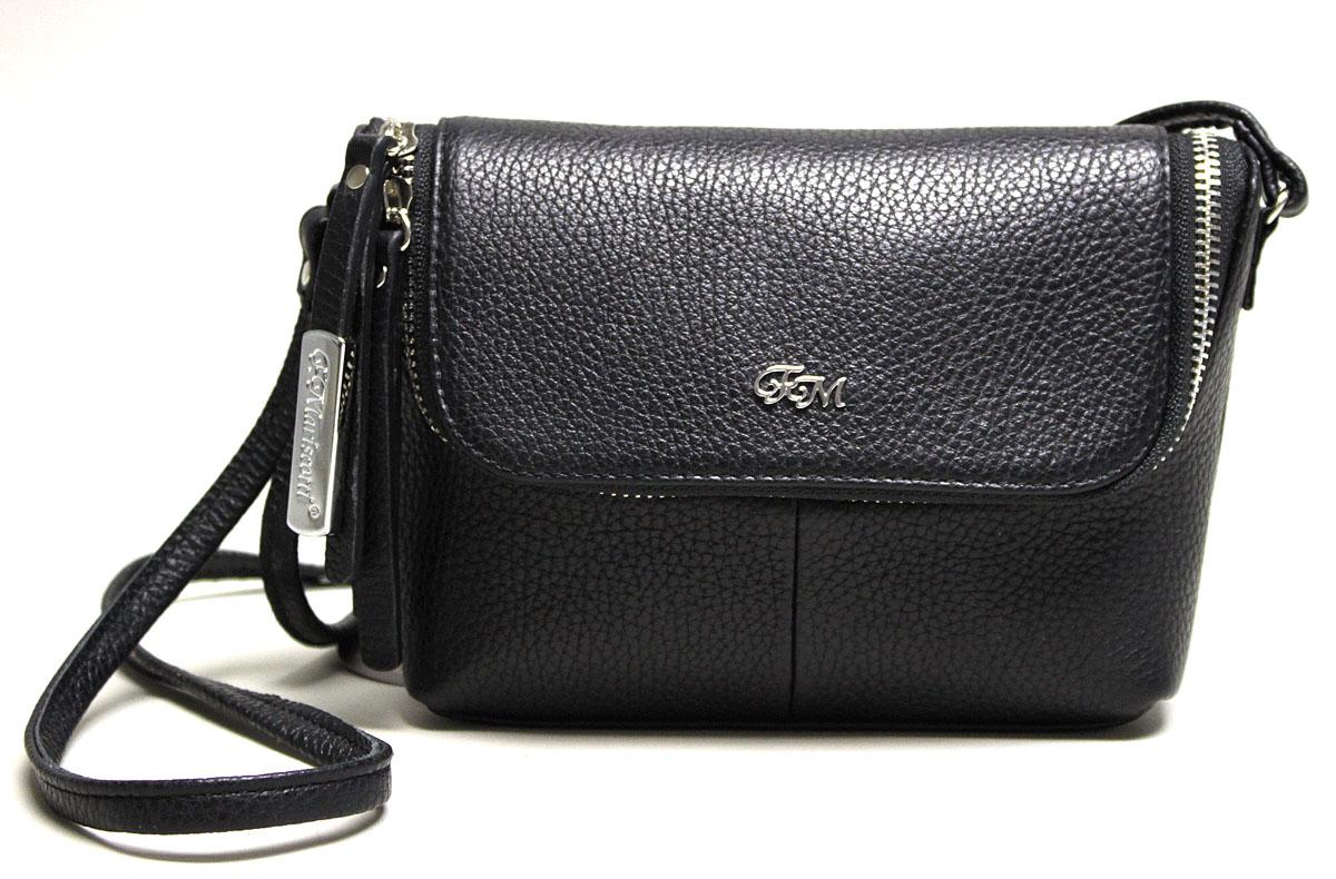 Сумка женская Franchesco Mariscotti, цвет: черный. 1-3903/5к фл1-3903/5к флСумочки Franchesco Moriscotti — прекрасный выбор для тех, кто ценит утонченный европейский стиль. А еще это беспроигрышный вариант для подарка своим родным и близким! Внутри одно отделение: карман на молнии