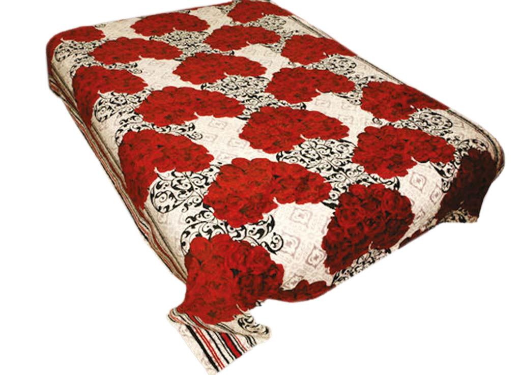 Плед Absolute, цвет: белый, красный, 180 х 230 см. 4398643986плотность 300 гр/м2