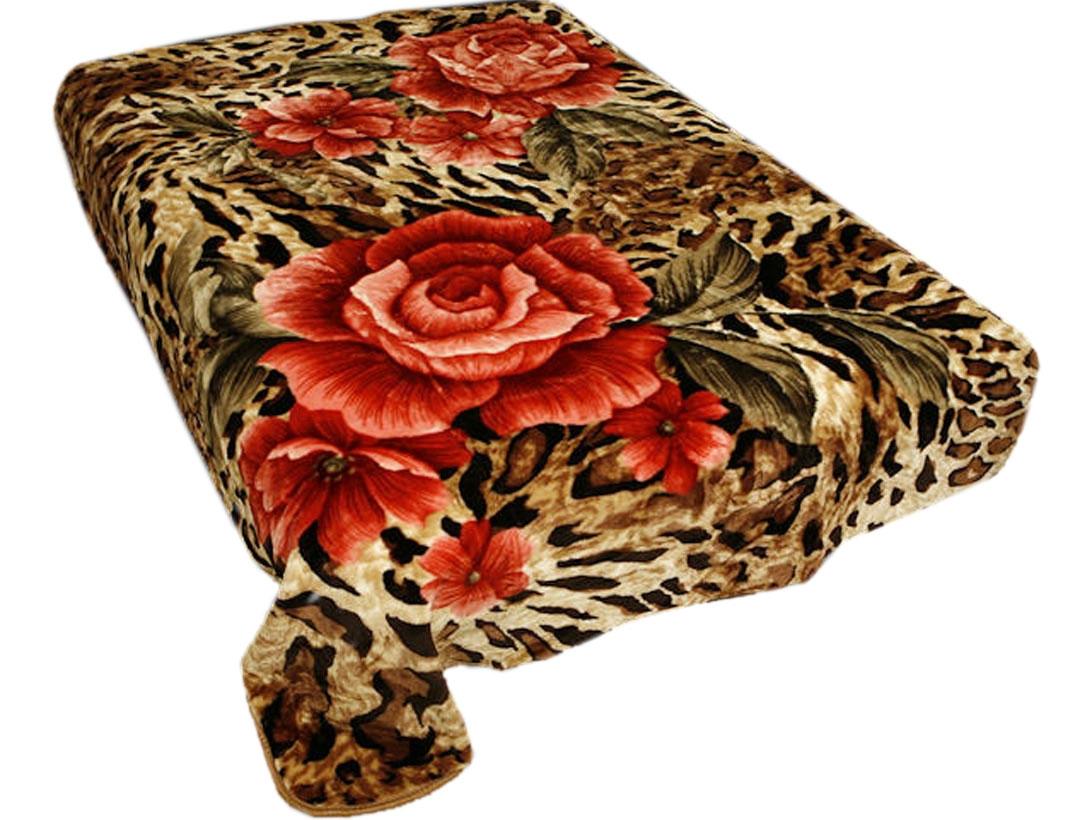 Плед Toledo, стриженый, цвет: коричневый, красный, 200 х 240 см. 5534055340плотность 645 гр/м2