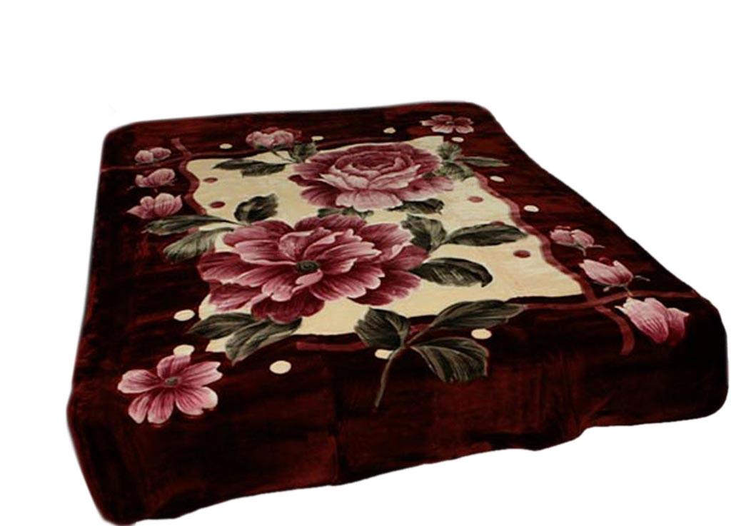 Плед Toledo, стриженый, цвет: бордовый, 200 х 240 см. 5534155341плотность 645 гр/м2