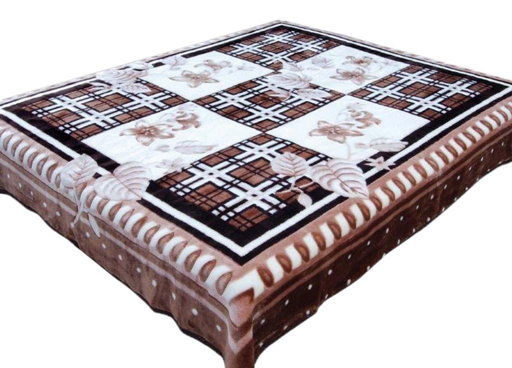 Плед Tamerlan, нестриженый, цвет: коричневый, белый, 200 х 240 см. 5728257282плотность 500 гр/м2