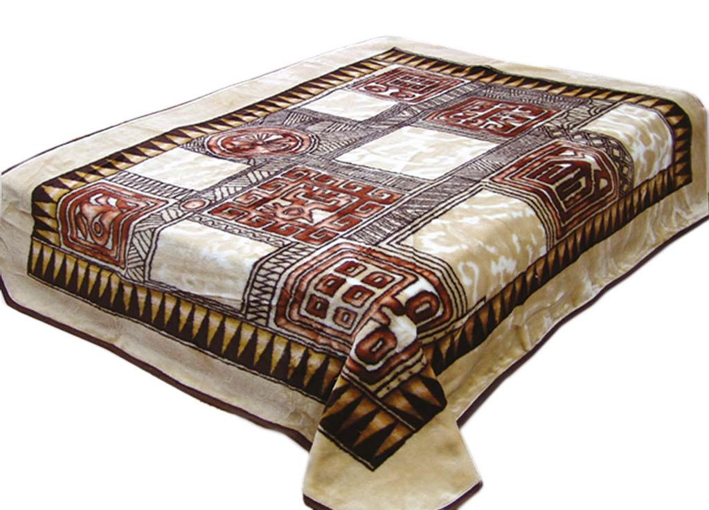 Плед Tamerlan, нестриженый, цвет: коричневый, бежевый, 200 х 240 см. 5728357283плотность 500 гр/м2