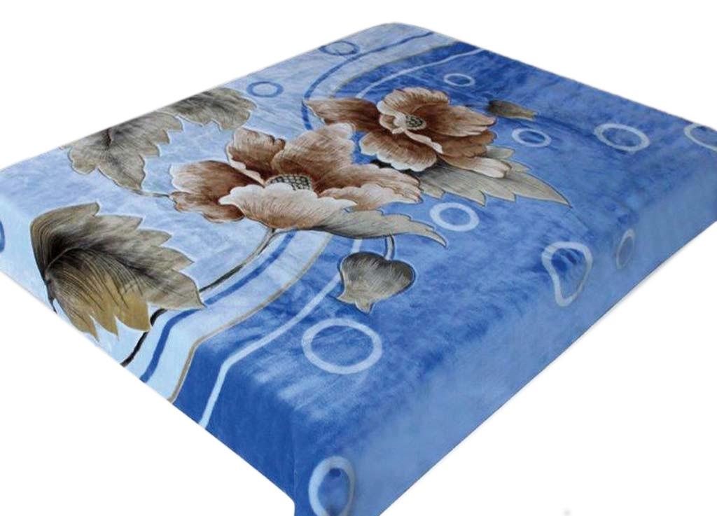 Плед Tamerlan, нестриженый, цвет: синий, 200 х 240 см. 5729457294плотность 500 гр/м2