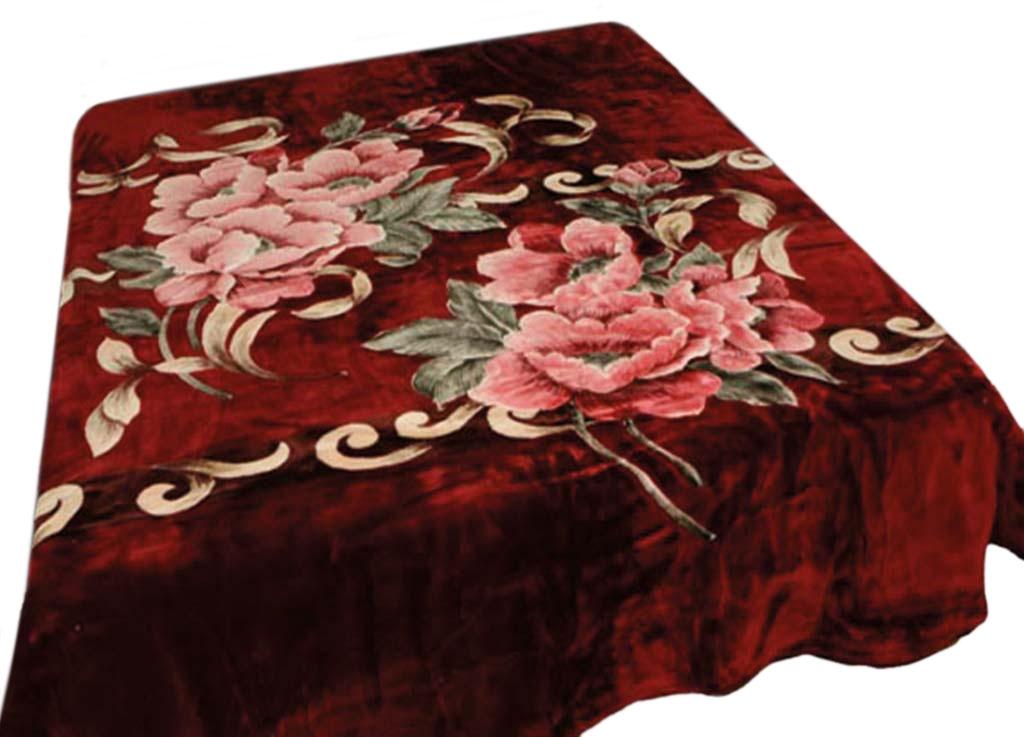Плед Tamerlan, стриженый, цвет: бордовый, 160 х 220 см. 5982159821плотность 600 гр/м2