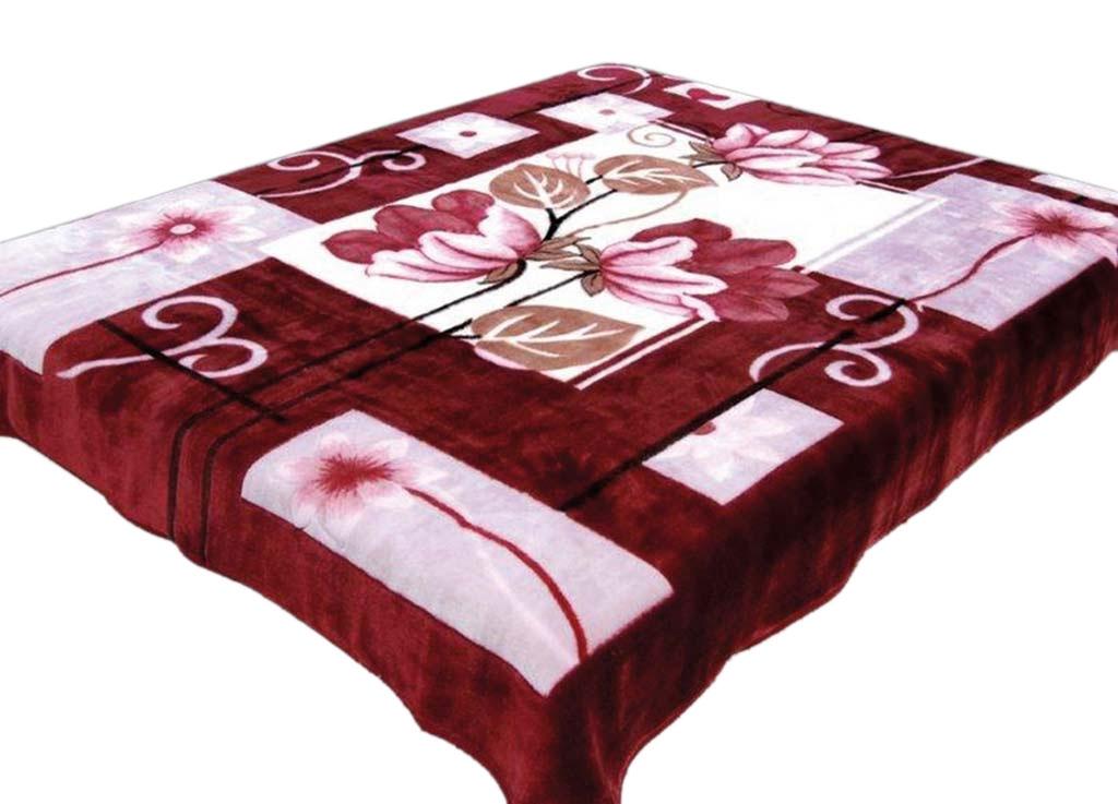 Плед Tamerlan, нестриженый, цвет: бордовый, розовый, 200 х 240 см. 6021860218плотность 500 гр/м2