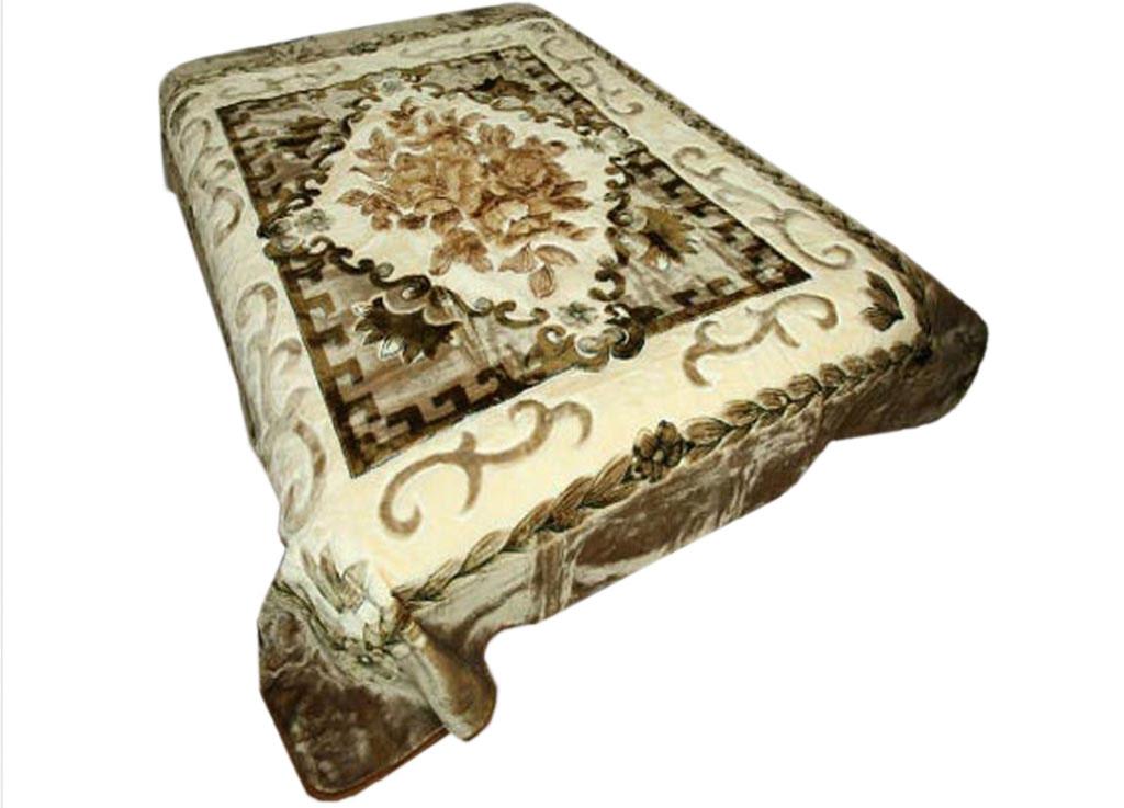Плед Toledo, стриженый, цвет: коричневый, 200 х 240 см. 6040460404плотность 645 гр/м2