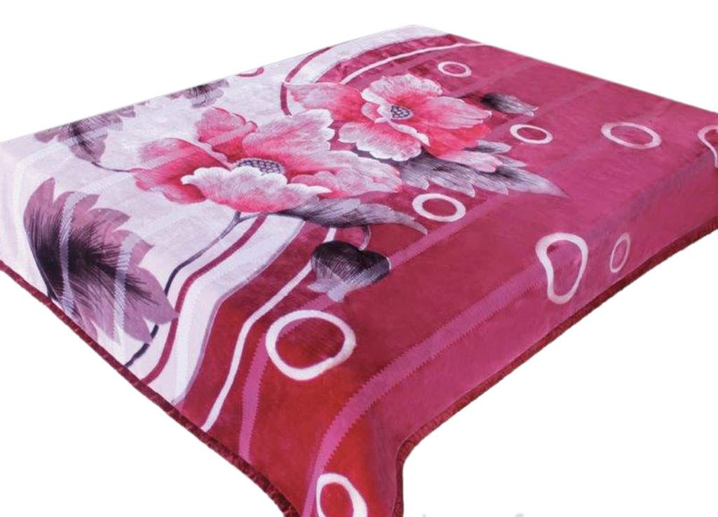 Плед Tamerlan, нестриженый, цвет: розовый, 160 х 210 см. 6139561395плотность 510 гр/м2