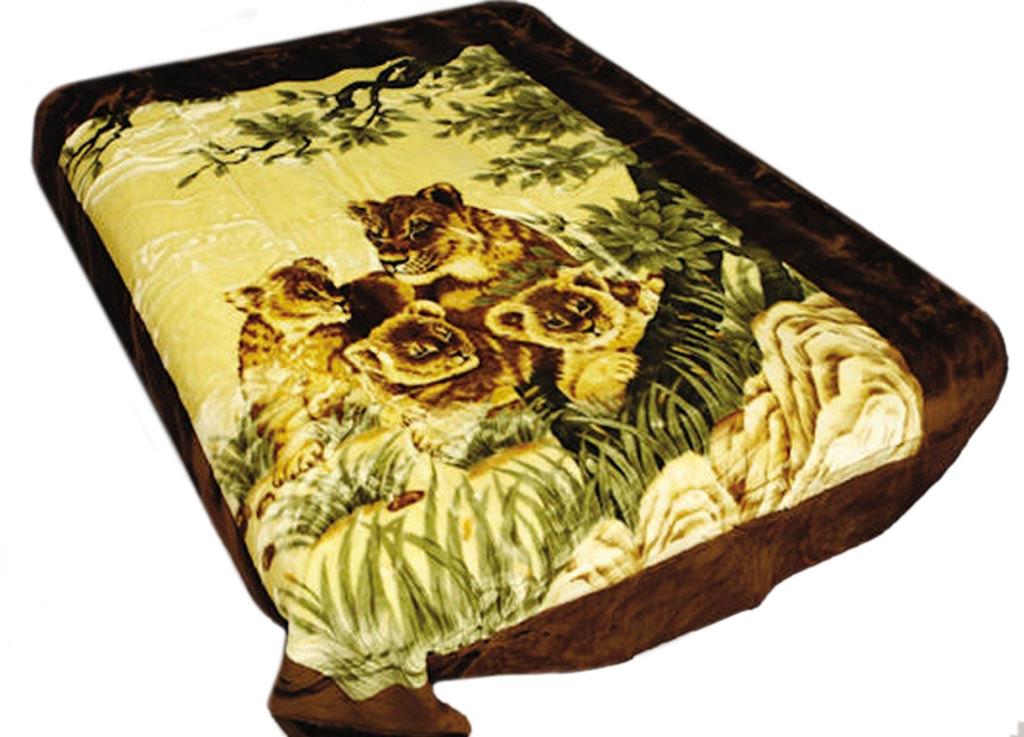 Плед Tamerlan, нестриженый, цвет: желтый, коричневый, 200 х 240 см. 6348963489плотность 440 гр/м2