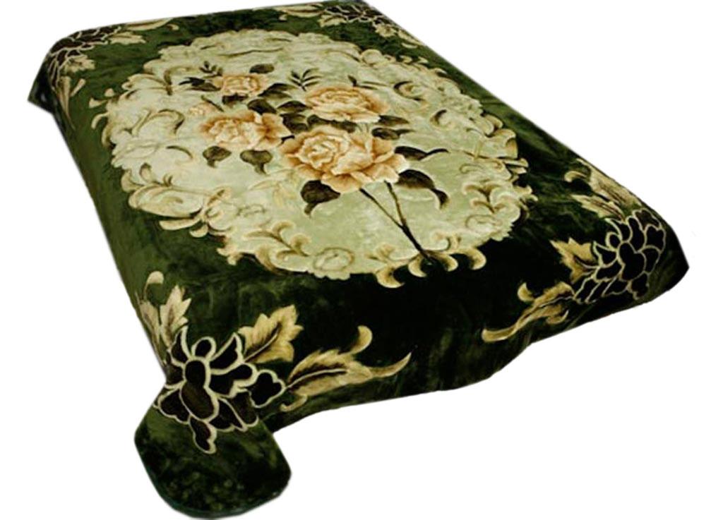 Плед Tamerlan, нестриженый, цвет: зеленый, 200 х 240 см. 6349763497плотность 440 гр/м2