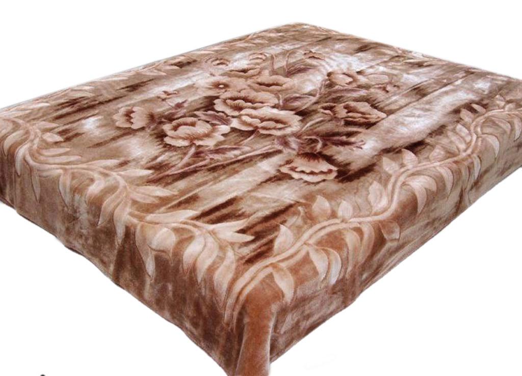 Плед Tamerlan, нестриженый, цвет: светло-коричневый, 160 х 210 см. 6774167741плотность 510 гр/м2