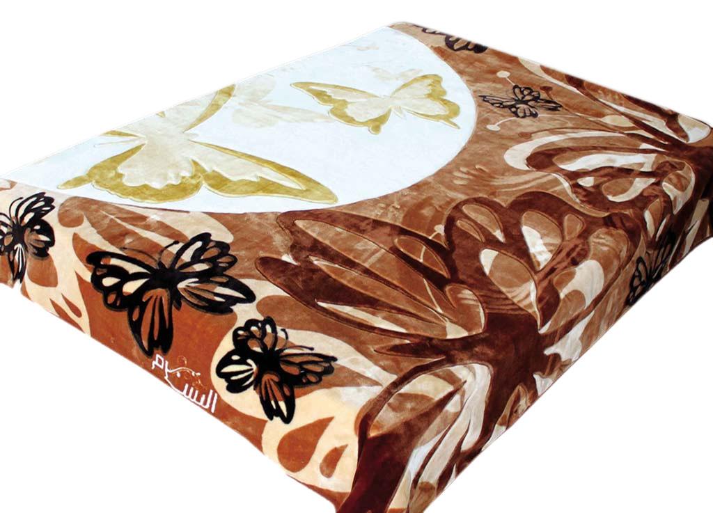 Плед Tamerlan, нестриженый, цвет: белый, коричневый, 200 х 240 см. 6841768417плотность 440 гр/м2