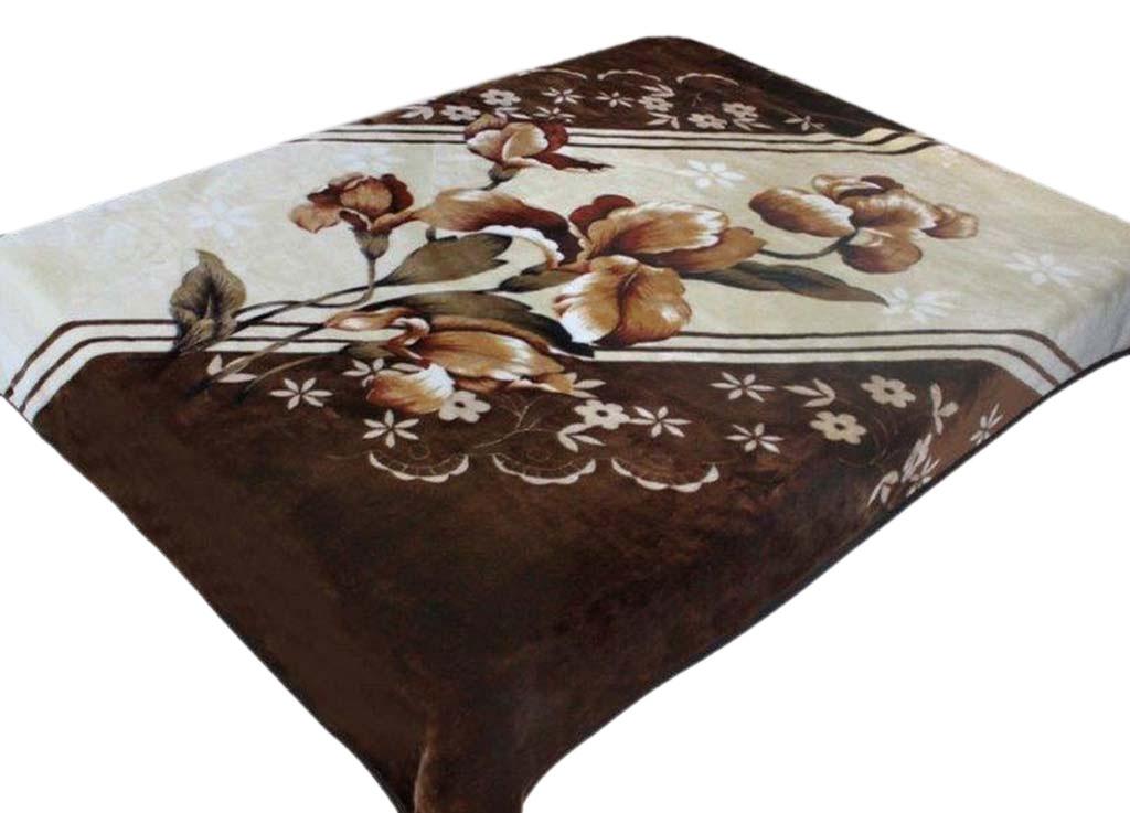 Плед Tamerlan, нестриженый, цвет: коричневый, 150 х 200 см. 7453074530плотность 400 гр/м2