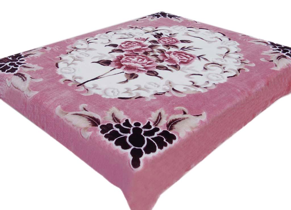 Плед Tamerlan, нестриженый, цвет: розовый, 150 х 200 см. 7453674536плотность 400 гр/м2
