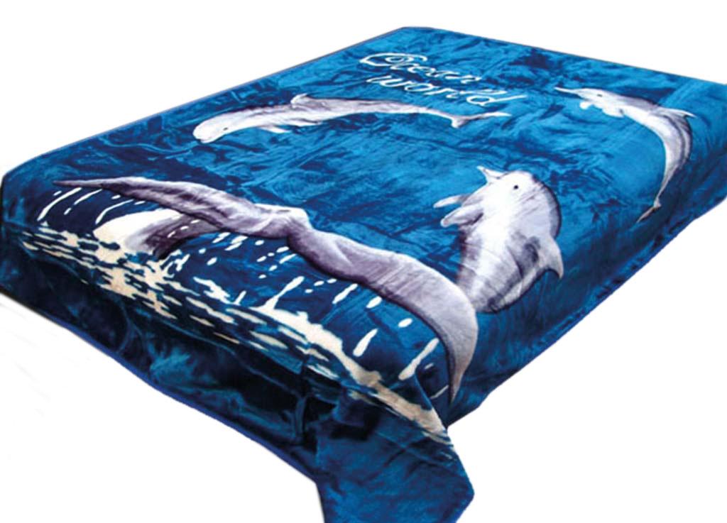 Плед Toledo, нестриженый, цвет: синий, 200 х 240 см. 7596975969плотность 440 гр/м2