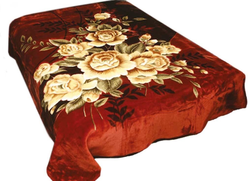 Плед Toledo, нестриженый, цвет: бордовый, 200 х 240 см. 7597175971плотность 440 гр/м2