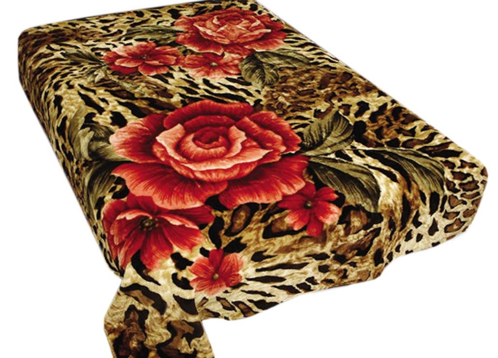 Плед Toledo, нестриженый, цвет: коричневый, красный, 200 х 240 см. 7598275982плотность 440 гр/м2