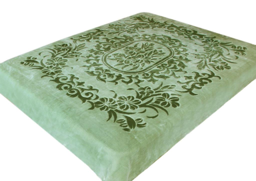 Плед Tamerlan, стриженый, цвет: зеленый, 200 х 240 см. 7712977129плотность 625 гр/м2