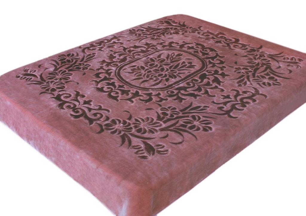 Плед Tamerlan, стриженый, цвет: темно-розовый, 160 х 220 см. 7713077130плотность 600 гр/м2