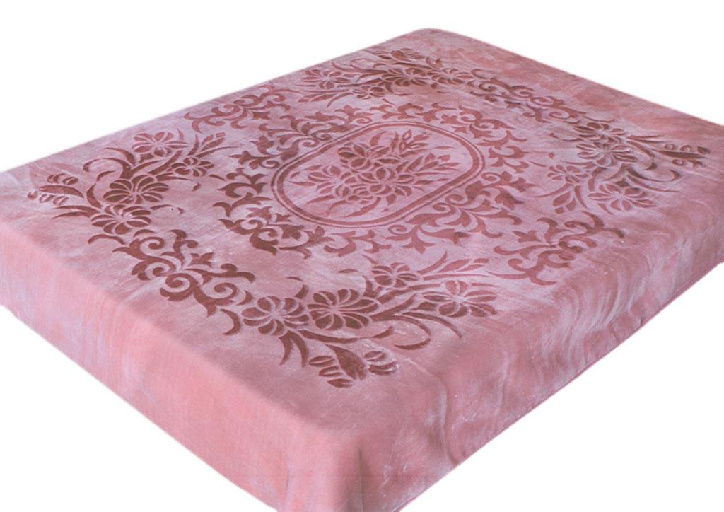 Плед Tamerlan, стриженый, цвет: розовый, 160 х 220 см. 7713177131плотность 600 гр/м2