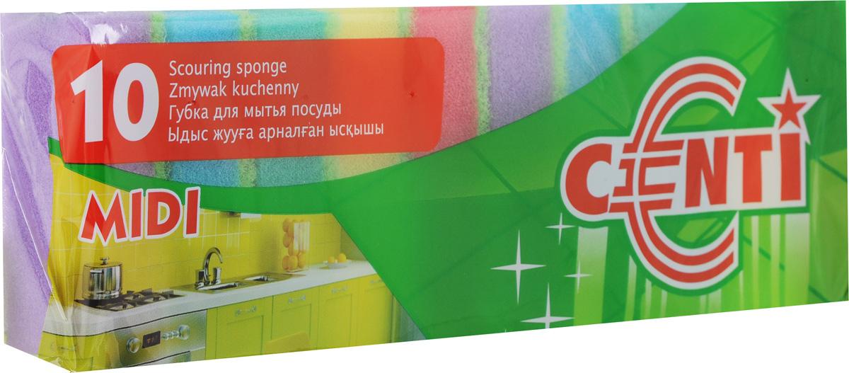 Набор губок для мытья посуды Centi Midi, 10 шт. 3016030160Губки Centi Midi, выполненные из сложных полимеров, предназначены для мытья посуды, столовых приборов, кухонной утвари, а также подходит для чистки поверхности плит, раковин, ванн и кафеля. Изделия оснащены абразивным слоем. Размер губки: 8 х 5 х 2,3 см.