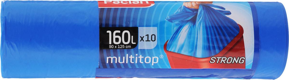 Мешки для мусора Paclan Multitop, 160 л, 10 шт134442/134440/341711/134441Мешки Paclan Multitop, выполненные из высококачественного полиэтилена, предназначены для сбора, хранения и утилизации бытового мусора. Очень прочные и удобные. Четыре вырезанных рога облегчают размещение мешка в ведре и его завязывание. Размер мешка: 90 х 125 см. Комплектация: 10 шт.