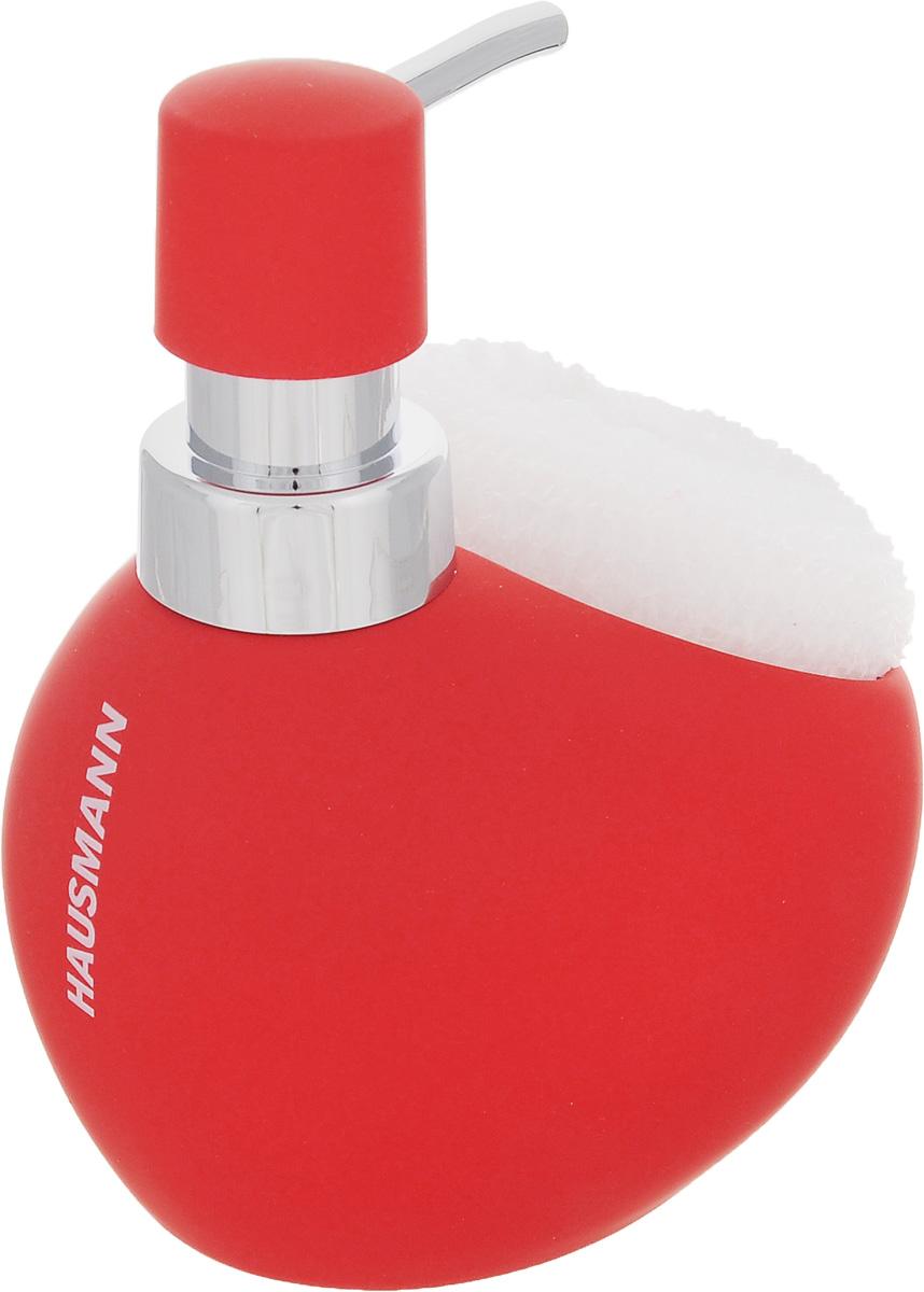 Дозатор для моющего средства Hausmann, с губкой, цвет: красный, 300 млHM-B0096R-1Дозатор Hausmann, выполненный из керамики, прекрасно подходит для удобной дозировки и хранения моющих средств на кухонном гарнитуре, рядом с мойкой. В комплекте имеется губка. Высота дозатора (с учетом крышки): 13,5 см. Размер дозатора (без учета крышки): 11,5 х 9,5 х 9 см. Размер губки: 9 х 8,5 х 3,5 см.
