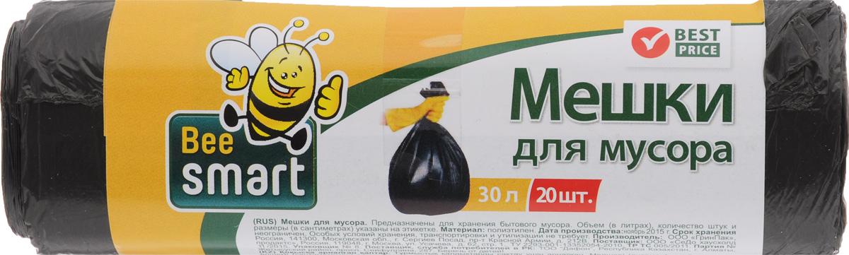 Мешки для мусора Beesmart, 30 л, 20 шт403008/403009Мешки Beesmart, выполненные из высокопрочного и эластичного полиэтилена, обеспечат чистоту и гигиену в квартире. Они удобны для сбора и утилизации мусора, занимают мало места, практичны в использовании. Благодаря удобным размерам, мешки легко вкладываются в ведро. Количество: 20 шт.