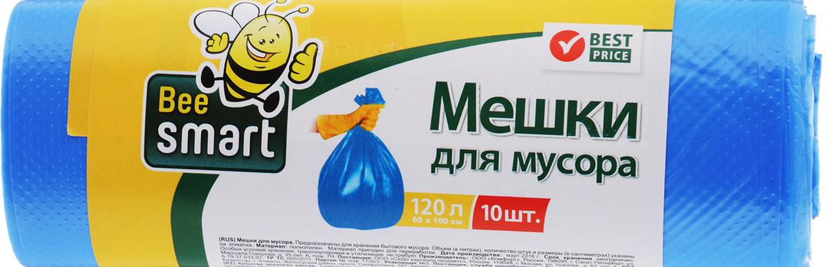 Мешки для мусора Beesmart, 120 л, 10 шт403012/403013Мешки для мусора Beesmart, выполненные из высокопрочного и эластичного полиэтилена, обеспечивают чистоту и гигиену в квартире. Благодаря наличию прочного шва, не пропускают влагу и запахи. Они удобны для сбора и удаления мусора, занимают мало места, практичны в использовании. Широко применяются в быту и на производстве. Размер мешка: 100 х 65 см. Комплектация: 10 шт.