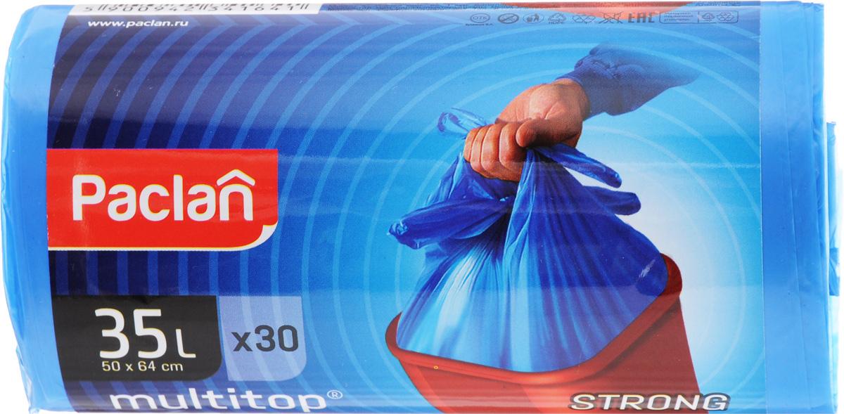 Мешки для мусора Paclan Multitop, 35 л, 30 шт513641/402082/402080/513800Мешки Paclan Multitop, выполненные из высококачественного полиэтилена, предназначены для сбора, хранения и утилизации бытового мусора. Очень прочные и удобные. Четыре вырезанных рога облегчают размещение мешка в ведре и его завязывание. Размер мешка: 50 х 64 см. Количество: 30 шт.