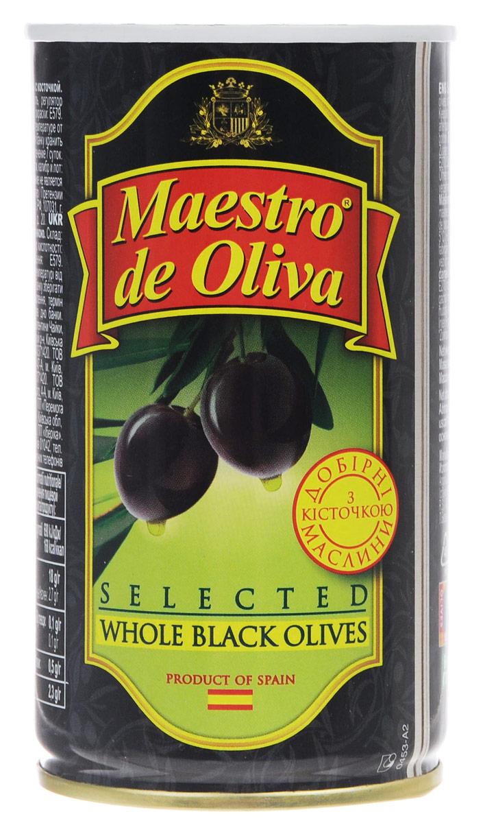 Maestro de Oliva отборные маслины с косточкой, 360 г