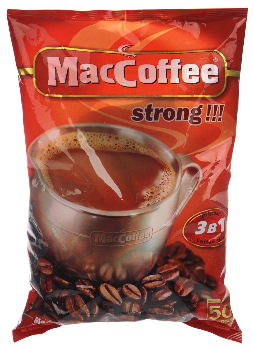 MacCoffee Strong кофейный напиток 3 в 1, 50 шт