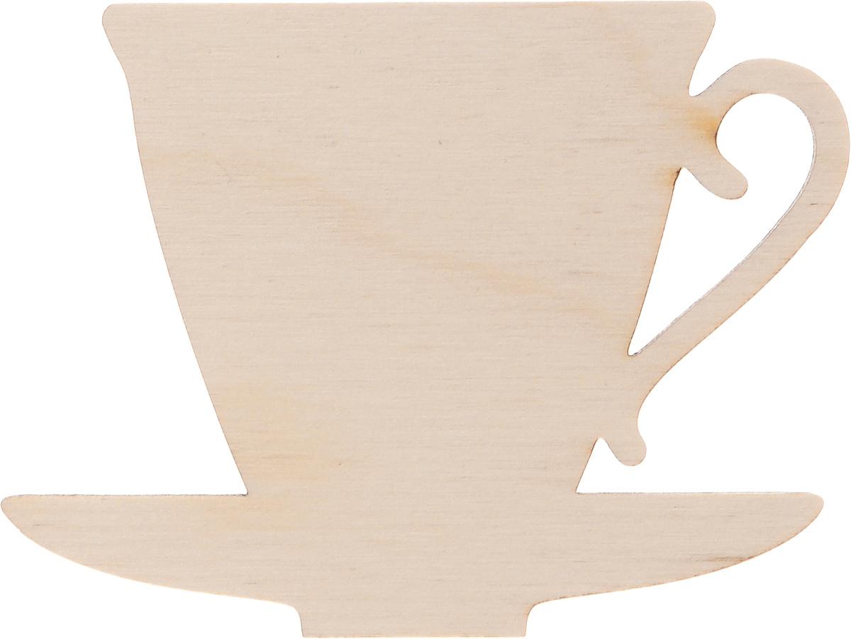 Заготовка деревянная Buratini Кофейная чашка с блюдцем, 80 х 60 ммDZ00024