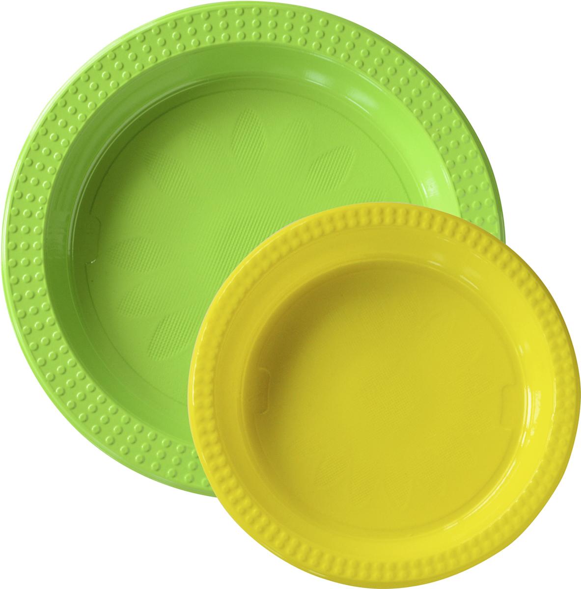 Тарелки пластиковые, 22см и 17см, в комплекте 20 шт167729Еда – одна из важнейших частей нашей жизни. Еда объединяет разных людей. Впечатляющая сервировка стола вдохновит любое застолье и превратит его в запоминающийся момент – для всех чувств, не только вкуса. Мы не только простой производитель салфеток, скатертей, свечек, чашек, тарелок и ножей с вилками. Мы – создатель атмосферы, вдохновения и сюрпризов – все это основные части обеда, ужина, вечеринки или незабываемого пикника. Используя современные инновации, скандинавский дизайн и опыт накопленный столетиями, мы сделаем вашу трапезу незабываемым праздником.