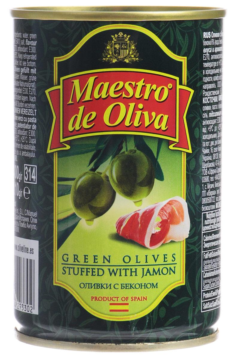 Maestro de Oliva оливки с беконом, 300 г