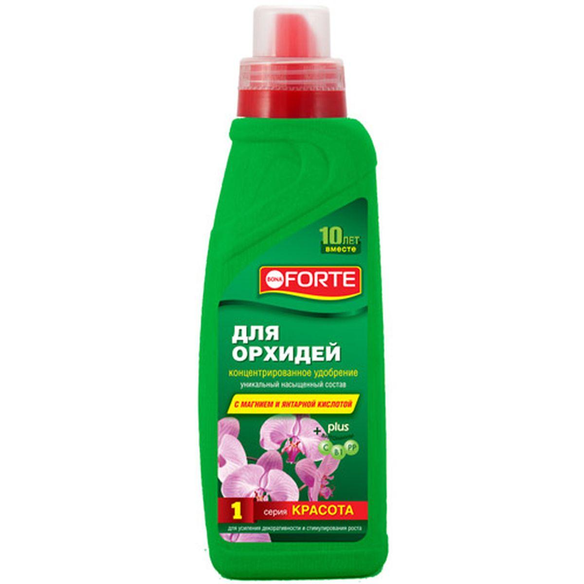 Жидкое комплексное удобрение Bona Forte, 750 мл (серия КРАСОТА)BF-21-03-004-1Стимулирует повторное цветение орхидей, обеспечивает отличный рост,а также прекрасный здоровый вид ваших любимых цветов.