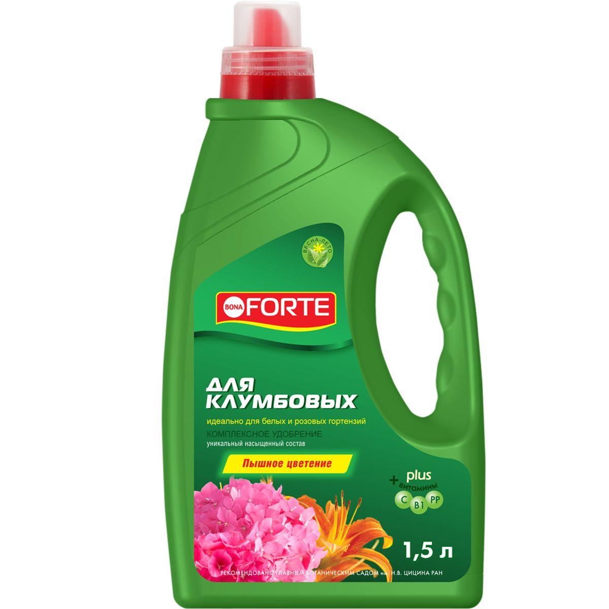 Жидкое комплексное удобрение Bona Forte, для роз, гортензий и клумб, 1,5 лBF-21-04-009-1