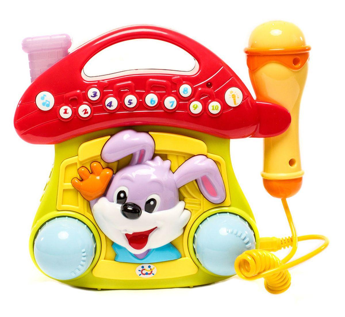 Huile Toys Игрушка музыкальная с микрофоном668Музыкально-световой грибочек - караоке.Игрушка для развития музыкальных и творческих навыков малыша.