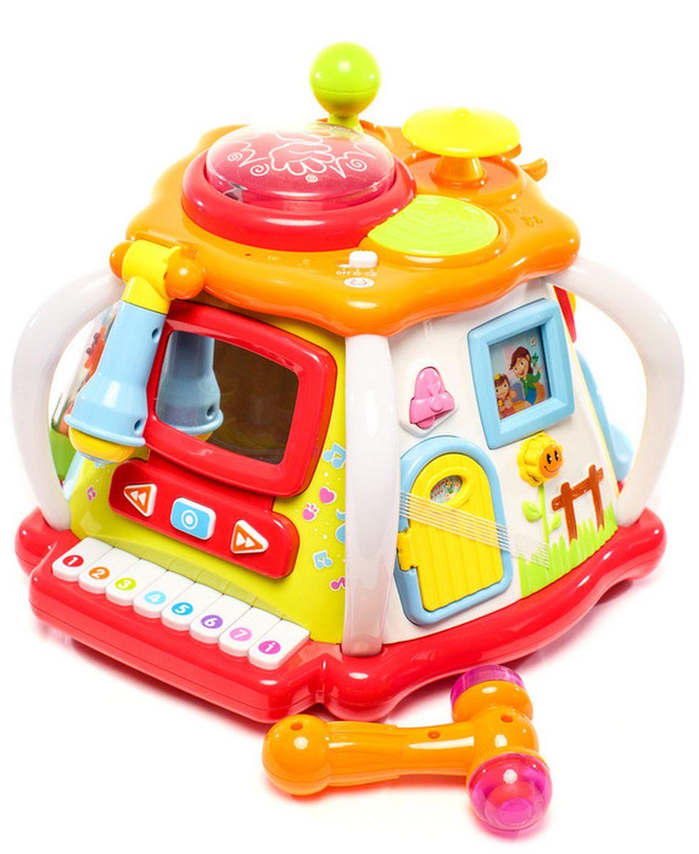 Huile Toys Игрушка Домик для развивающих игр676Многофункциональная развивающая игрушка оснащена различными режимами. Нажимая на кнопочки, малыш услышит разные звуки.
