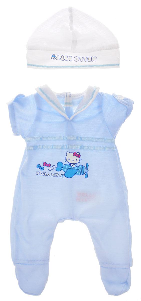 Карапуз Комплект летней одежды для пупсаB1226880-RUКаждая маленькая девочка любит играть в дочки-матери. Комплект летней одежды для пупса Карапуз непременно понравится малышке, ведь он включает в себя восхитительный комбинезон и шапочку для пупса, украшенные изображением персонажа Hello Kitty. Этот комплект позволит вашей малышке переодевать своего пупса, одевать его на прогулку. Одежда подходит для пупсов высотой 40-42 см.